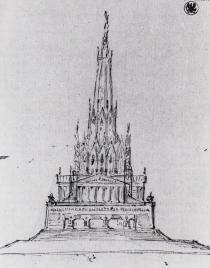 Karl Friedrich Schinkel, Hybrid Monument, 1815