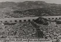 Liebe Grüsse aus Graz von Superstudio – New Graz landscape. A postcard from 1969